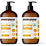 Everyone Nourishing Hand and Body Lotion, 32 Ounce (Pack of 2), Coconut and Lemon, Plant-Based Lotion with Pure Essential Oil