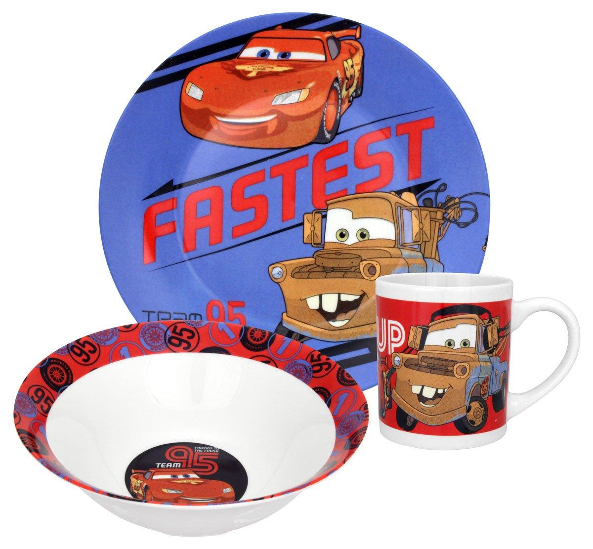 Disney Pixar Cars Dinnerware Set, 3-Piece