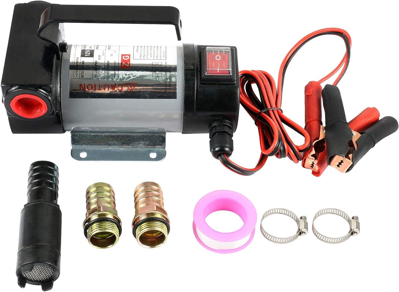GOGOLO Pompe Diesel 12 V Auto-amor/çante pour Tracteur Voiture Filtre /électrique 50 l//Min Pompe Diesel pour r/éservoir Automatique Pompe Diesel Kit de Pompe Diesel Automatique Batterie de Voiture