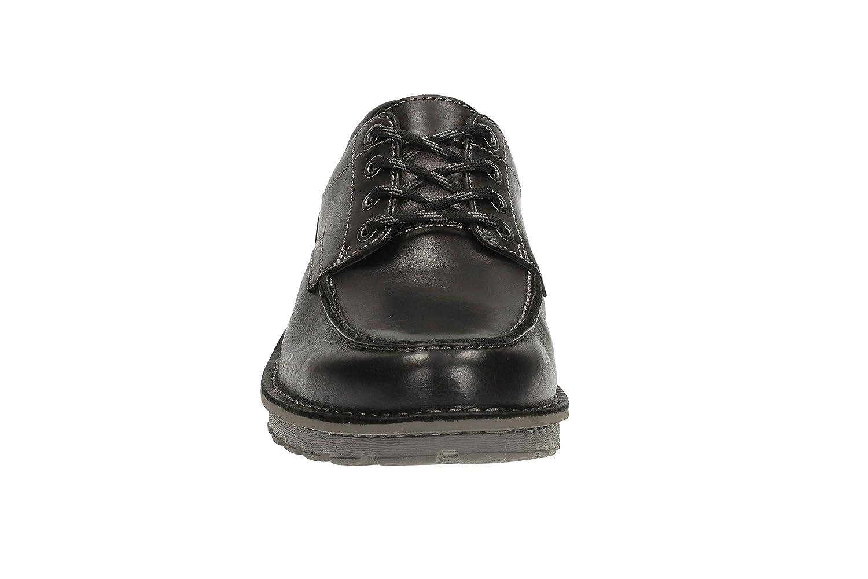 Clarks Casual Hombre Zapatos Sawtel Ridge En Piel Negro Tamaño 41 ZWB2Q1FA