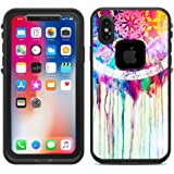 Protective Designer Vinyl Skin Decals for LifeProof Fre iPhone X / iPhone 10 Case - Dream Catcher Painting Design Pattern - Only SKINS and NOT Case - by [TeleSkins]