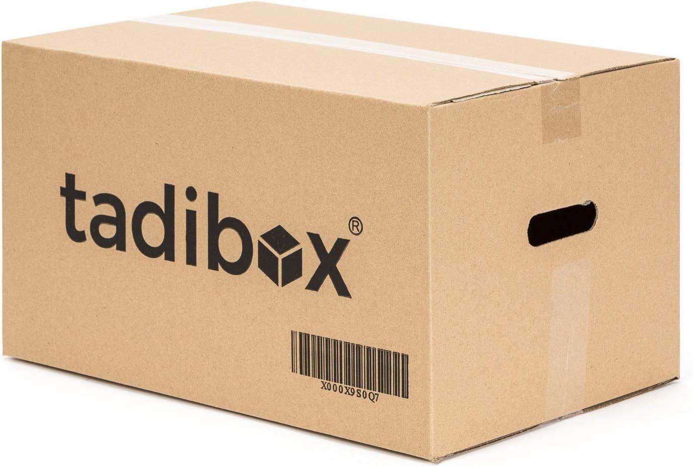 12 Cajas de Cartón para Mudanza (Talla M) con Asas - Extra Resistentes Fabricadas en España - 44x30x25cm Gramaje Ultra Resistente 450g/m2 - Combina las Cajas de Cartón (M/L/XL), optimiza tu mudanza!