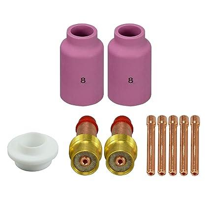 TIG Lente de gas Kit de accesorios 45V26 3/32