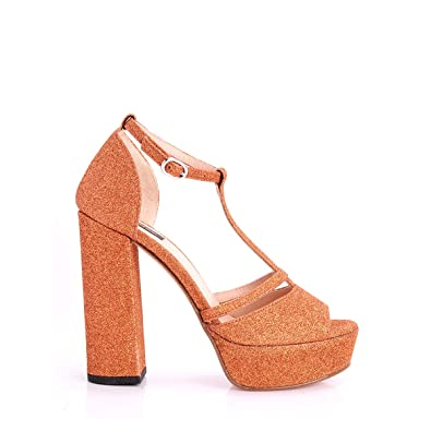 Sandalo Scarpa Glitter Pinko Y3fm Art 1p20xz Donna Rame Gamay Pq5BBxnCR
