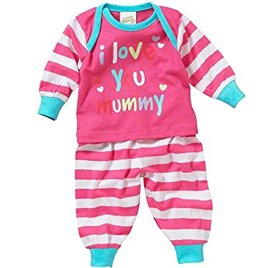 598a4c439 Lullaby Baby Girls I Love You Mummy Dotty About Daddy Long Sleeve ...