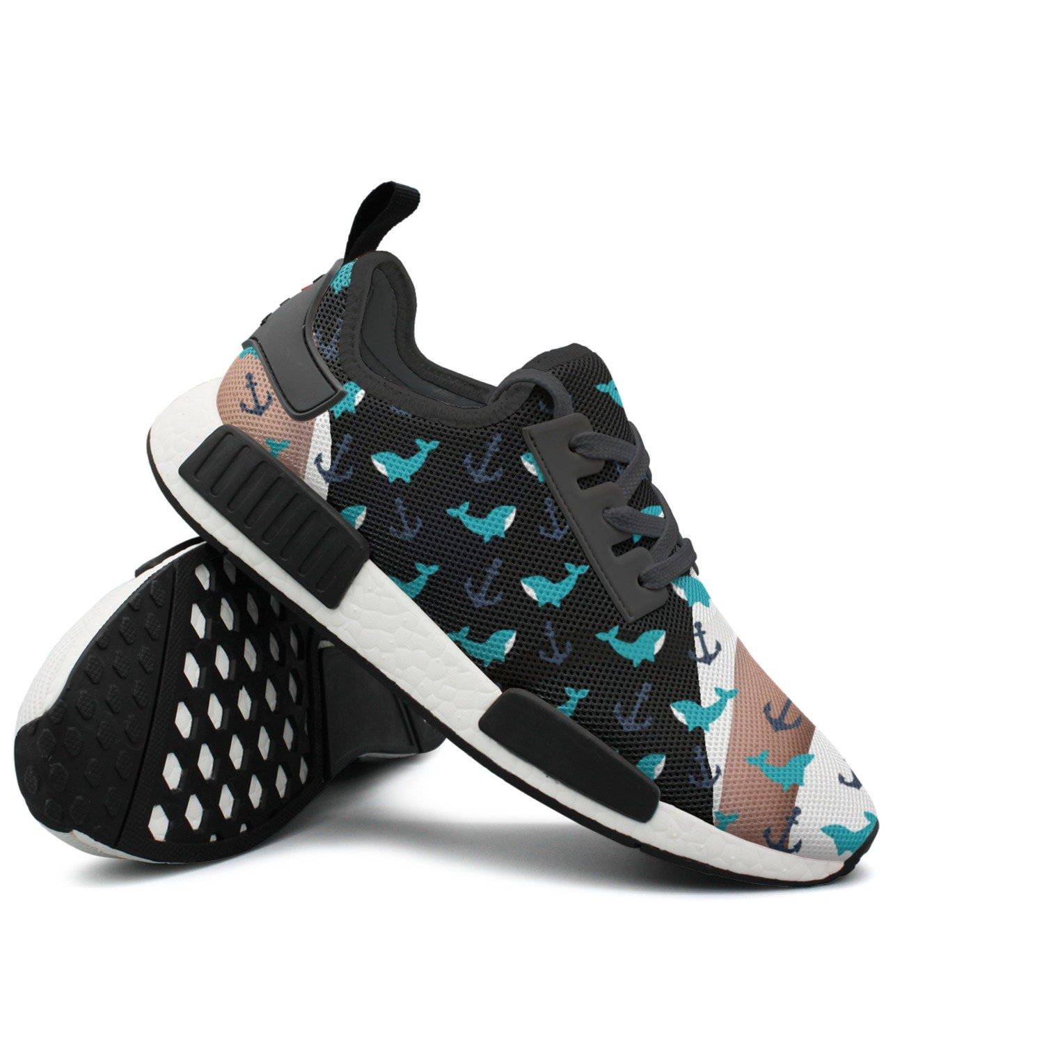 Anchor Whale Lightweight Classic Stylish Print Canvas Sneakers Shoes