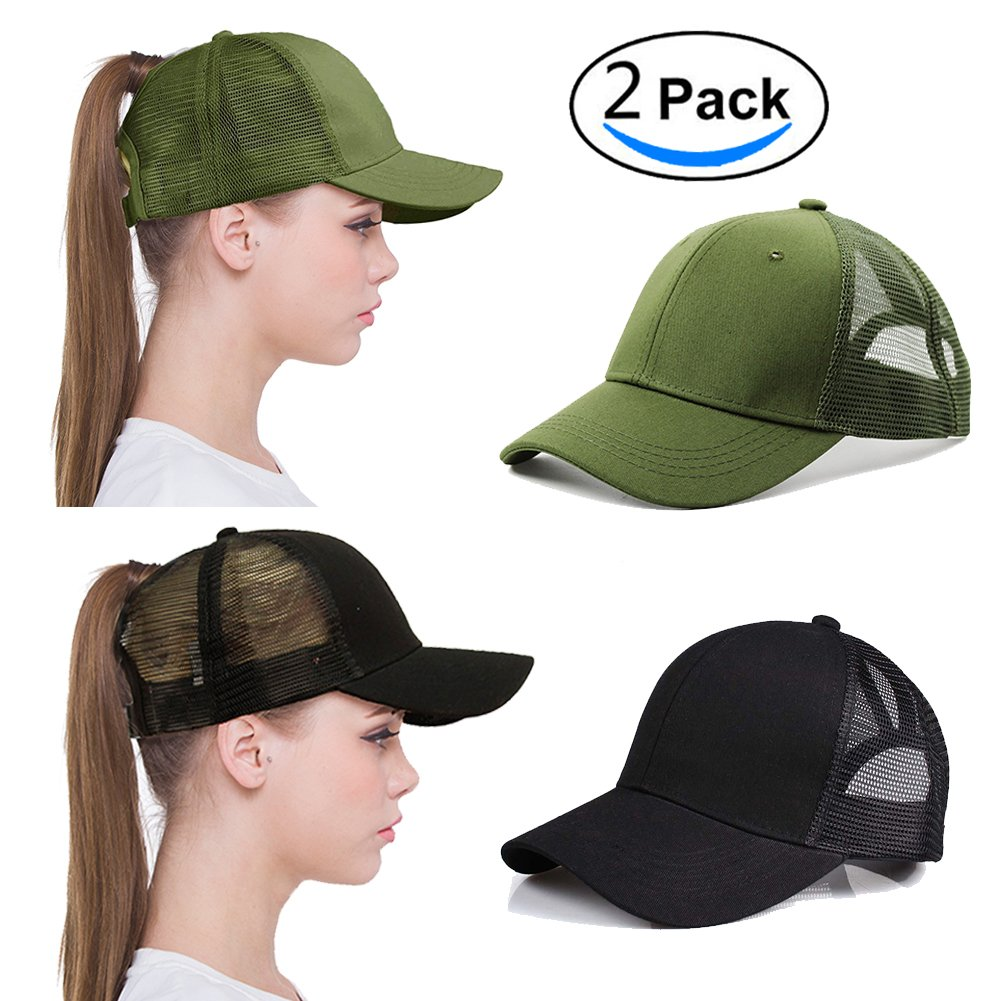 Novelty Baseball Hat With Ponytail - Parchment N Lead 94e61886c440