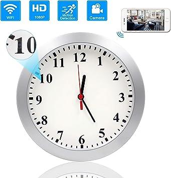 Wireless 1080P WiFi Wall Clock Hidden Camera Spy Nanny with Motion Detection Cam