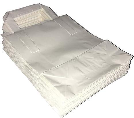 Marrón O Papel Blanco Bolsas con plano asas estraza para ...