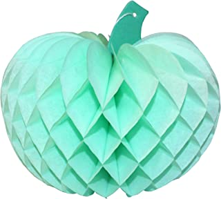 product image for 3-Pack 10 Inch Honeycomb Tissue Paper Pumpkin Decoration (Mint Green)