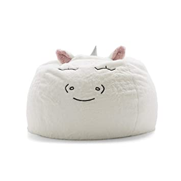 Awesome Big Joe Lux Wild Bunch Unicorn Super Soft Plush Bean Bag White Gmtry Best Dining Table And Chair Ideas Images Gmtryco