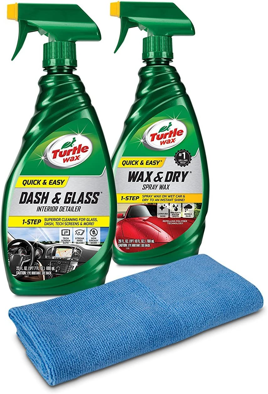 Turtle Wax 50836 Quick & Easy Interior & Exterior Kit with Microfiber Towel, 49. Fluid_Ounces