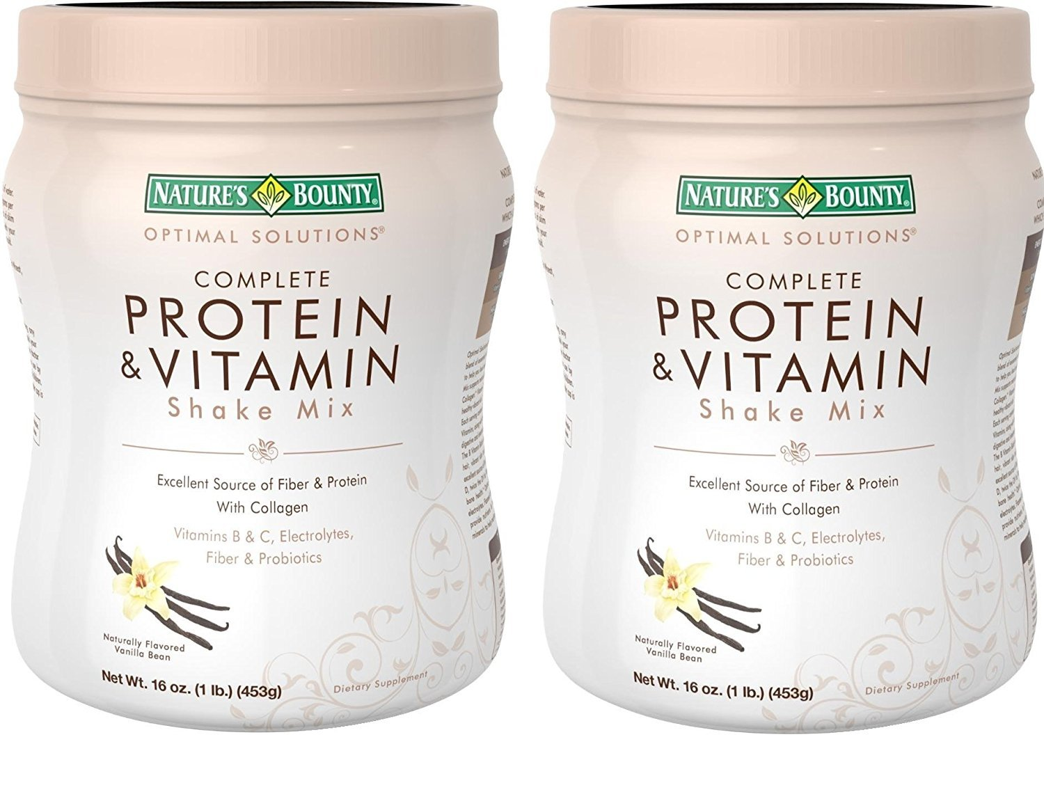 Nature's Bounty Protein & vitamin Shake Mix, Vanilla bean, 16 Ounce (Pack of 2) by Nature's Bounty