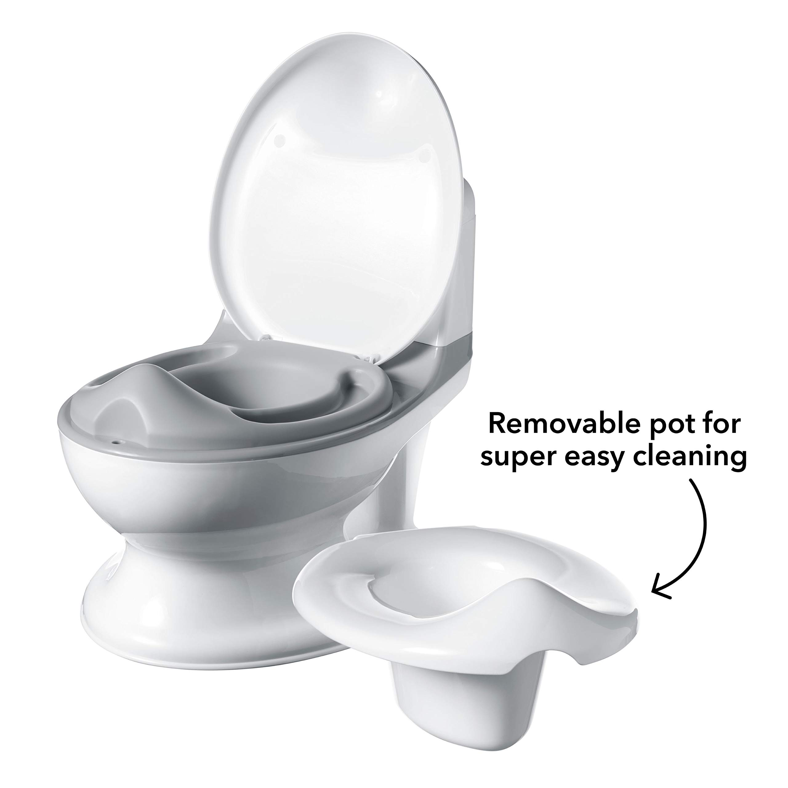 Realistic Kids Potty Training Toilet Baby Pot with Flushing Sounds ADOVEL Potty Toilet for Toddlers