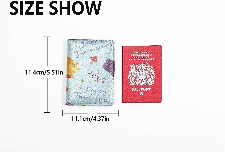 U.s Passport Leather Case Cute Delicious Gourmet Roast Chicken Passport Holder Hard Case Multi Purpose Print Passport Cover For Boys Travel Wallets For Unisex 5.51x4.37 Inch