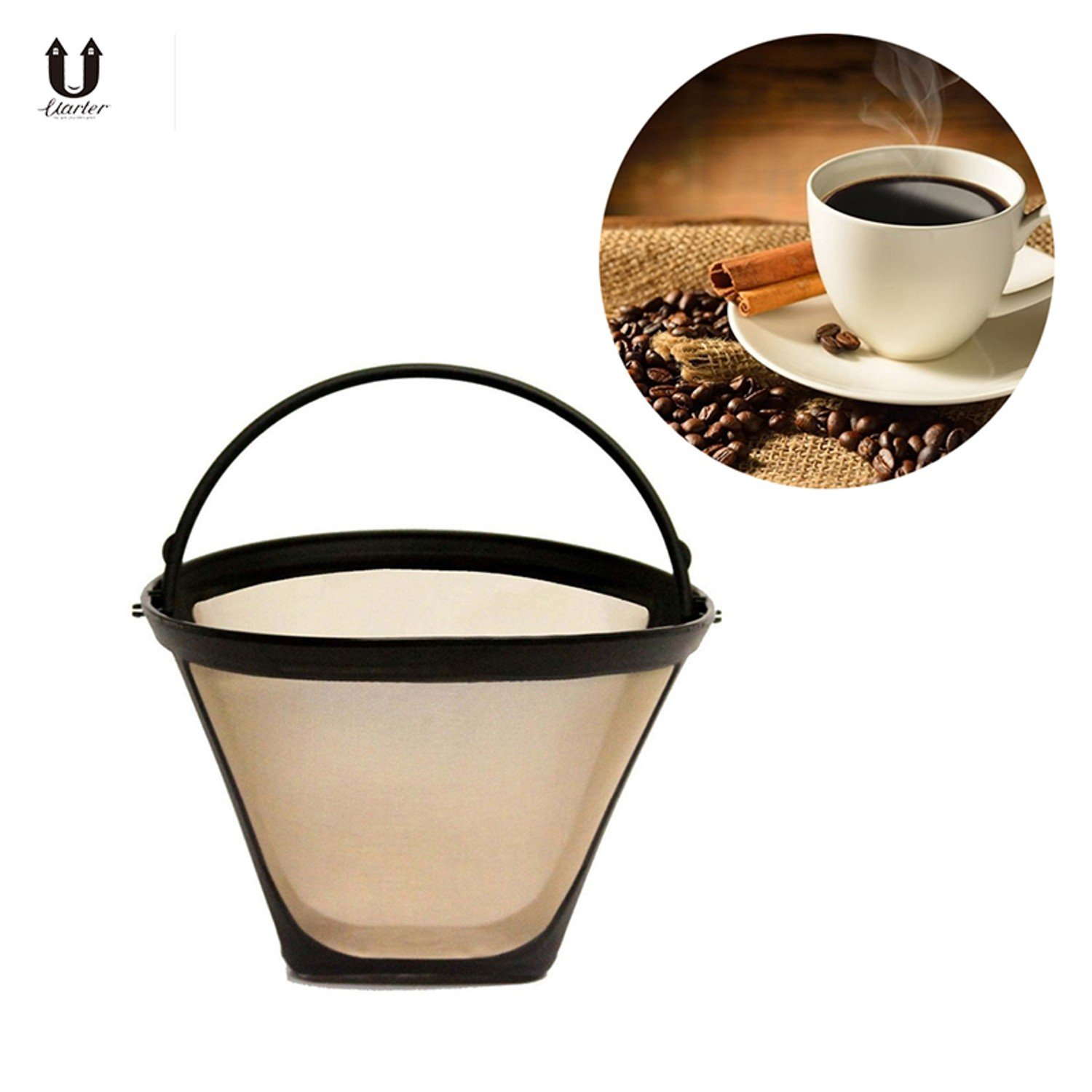 Reusable Stainless Steel Coffee Filter Baskets Permanent Cone-Style Handmade Coffee Filter Tool Kitchenware