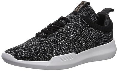 K-Swiss Men's Gen-K Icon Knit Sneaker, Black/Grey Heather,