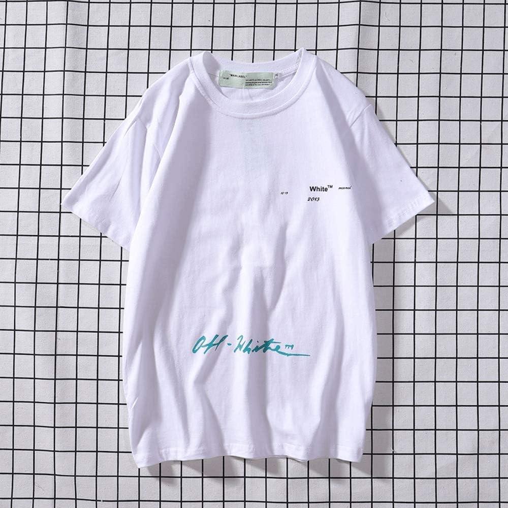 White Cotton Classic Graffiti Velvet Sweater L Short Sweatshirt Sleeves WHTIAN OW Short Sleeves For Men And Women In Spring And Summer Casual Short