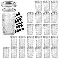 Mason Jars 8OZ, VERONES 8 OZ Canning Jars Jelly Jars With Regular Lids and Bands...