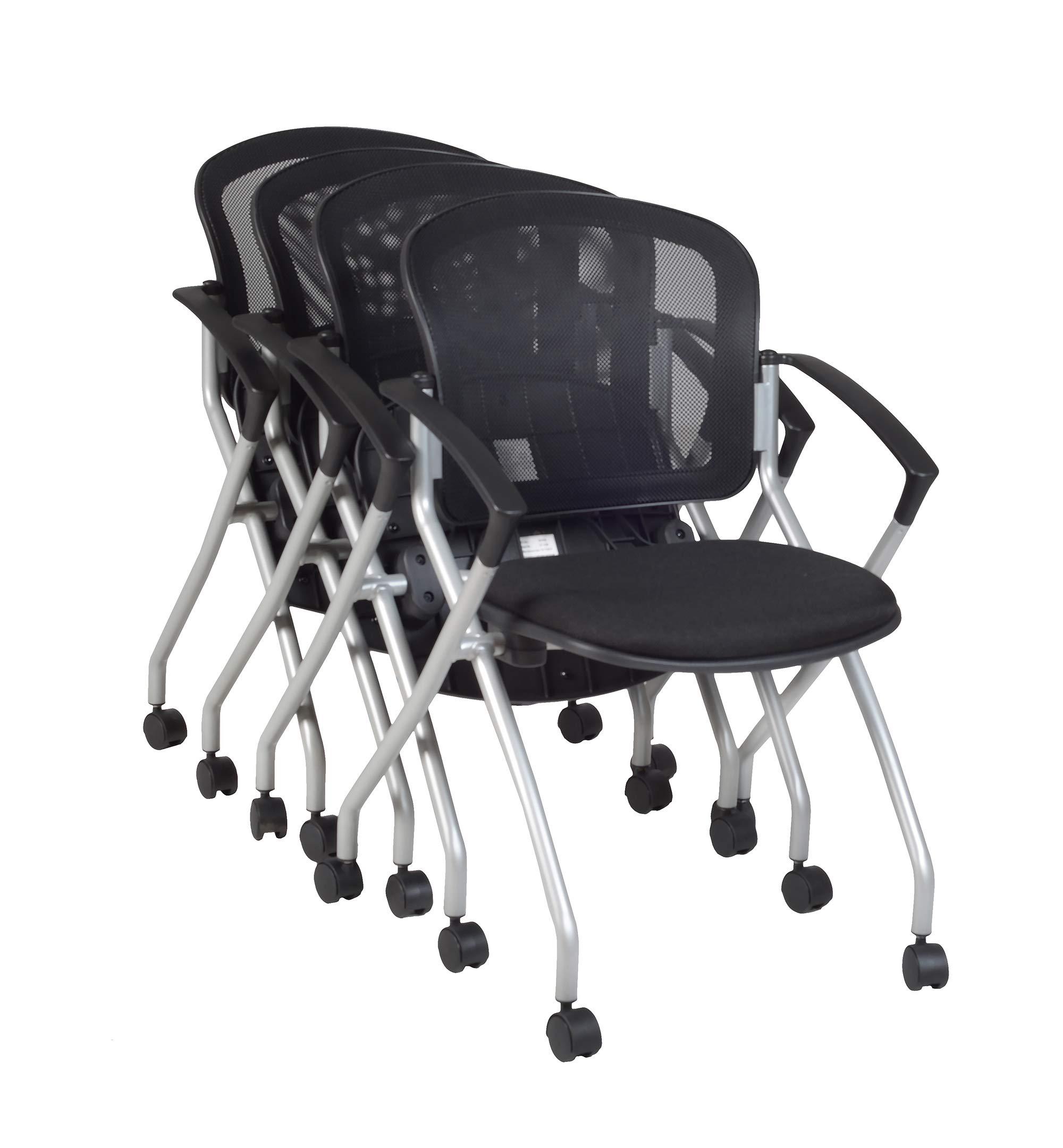 Regency Cadence Nesting Chair (4 Pack), Black by Regency