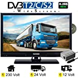 Telefunken L20H270K4D LED Fernseher TV 20 Zoll 51 cm DVB/S/S2/T/T2/C, DVD, USB, 12V 24V 230V, Energieeffizienzklasse A+ nur 14Watt, Wide Screen TV