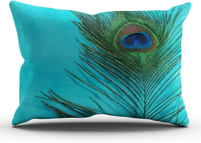 QDAS Peacock Feather Pillowcases Teal