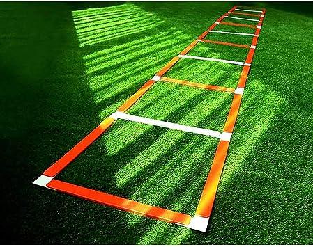 Xin La Velocidad y la Escalera de Agilidad Equipo de Entrenamiento 5M 12 peldaño de la Escalera, Escalera de Agilidad Juego de pies de Escalera: Amazon.es: Deportes y aire libre