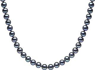 Kimura Pearls 18 carati oro giallo Rotonda perla cinesa da coltivazione nero Perla FINENECKLACEBRACELETANKLET