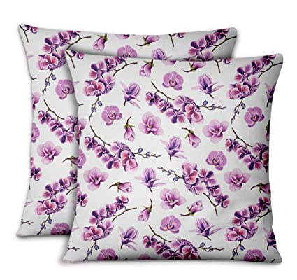 Amazon.com: S4Sassy White Cotton Poplin Orchid Living Room ...