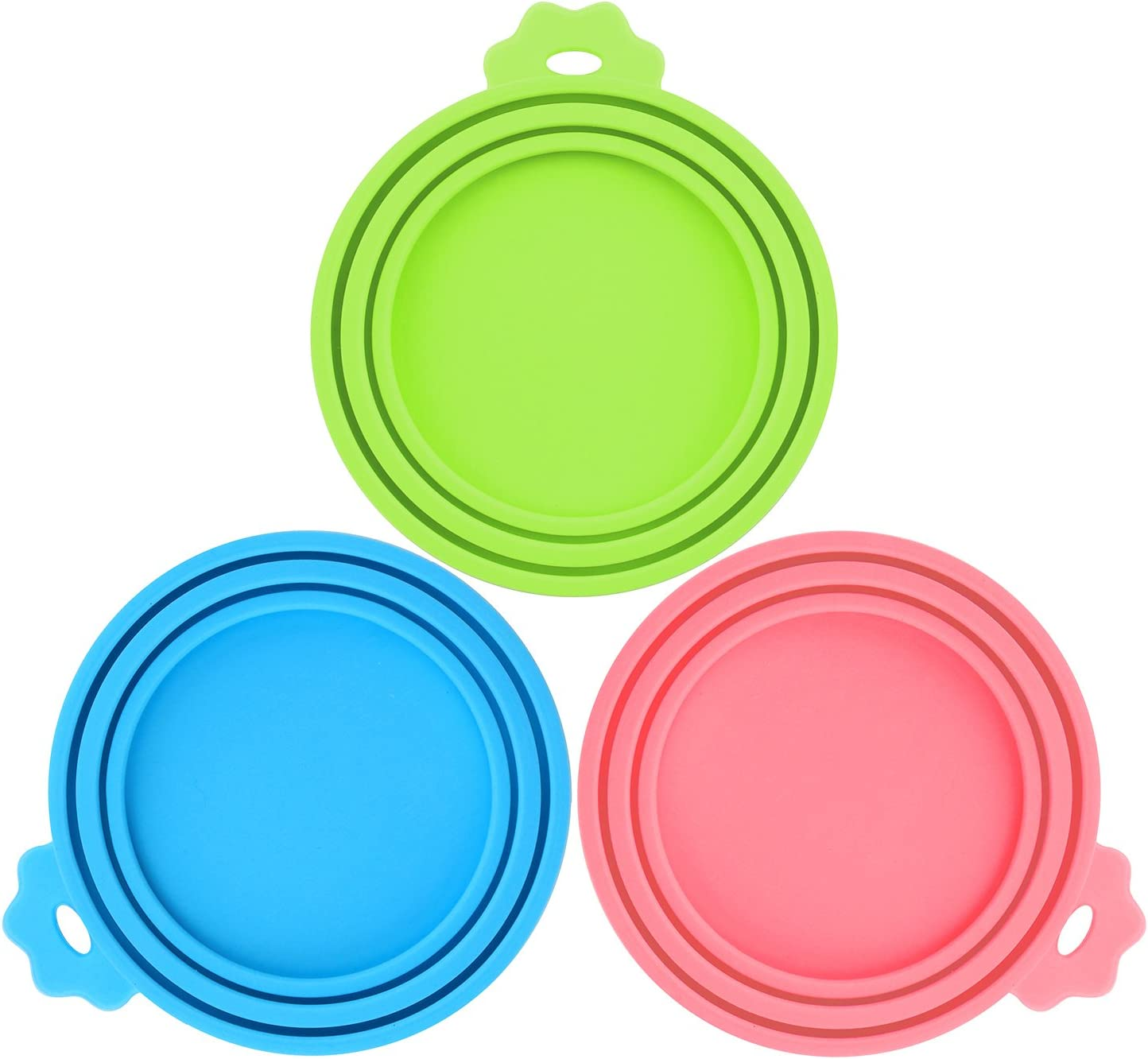 Comtim Pet Food Can Covers 3 Pack Silicone Can Lids Caps for Dog Cat Wet Food,Universal Size Fit Most Standard Size Canned Dog and Cat Food