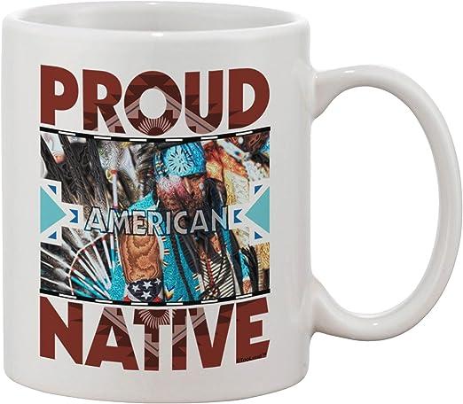 Amazon Com Tooloud Proud Native American Printed 11oz Coffee Mug Coffee Cups Mugs