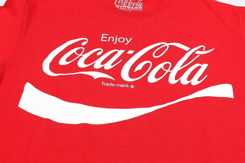 e6ee42059aeb Amazon.com: Coca Cola Classic Coke Men's Red T-shirt L: Clothing