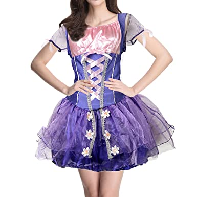 Quesera Womenu0027s Rapunzel Costume Classic Princess Character Adult Dress Cosplay Costume Purple TagsizeSu003d  sc 1 st  Amazon.com & Amazon.com: Quesera Womenu0027s Rapunzel Costume Classic Princess ...