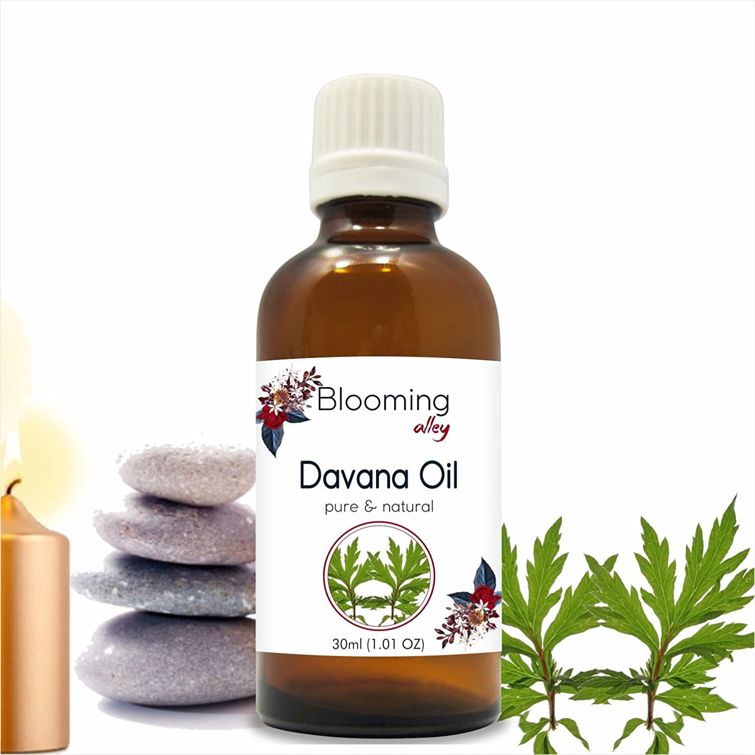 Davana Oil(Artemisia Pallens) Essential Oil 30 ml or 1.0 Fl Oz by Blooming Alley B07F1G47VG  30ML