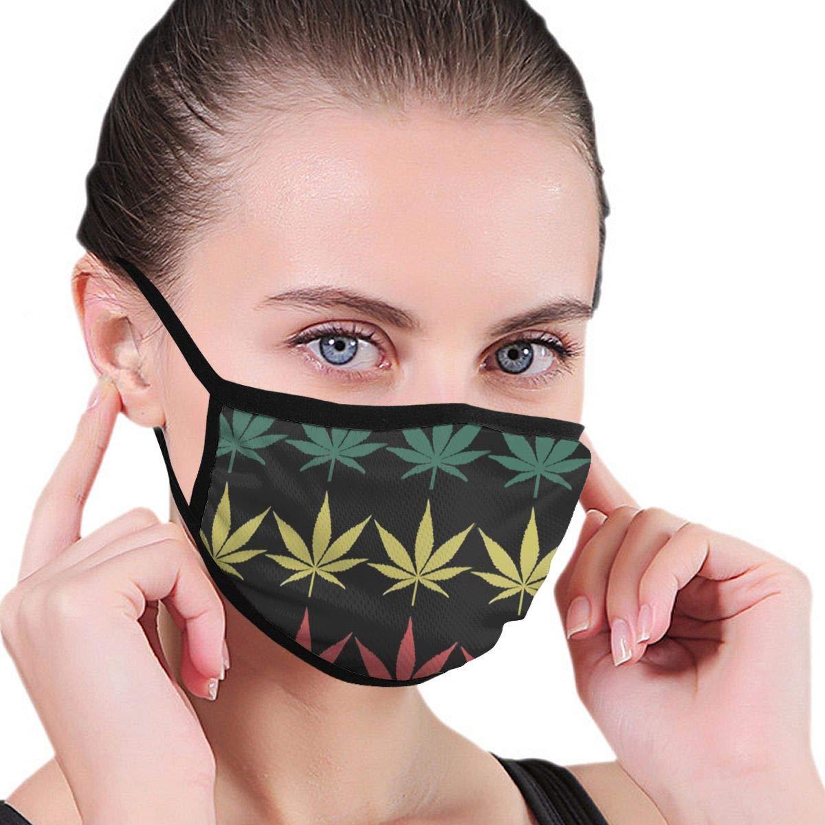 Tapa de boca divertida A prueba de polvo Lavable reutilizable Hoja de marihuana Protección protectora Cálido a prueba de viento para mujeres Hombres