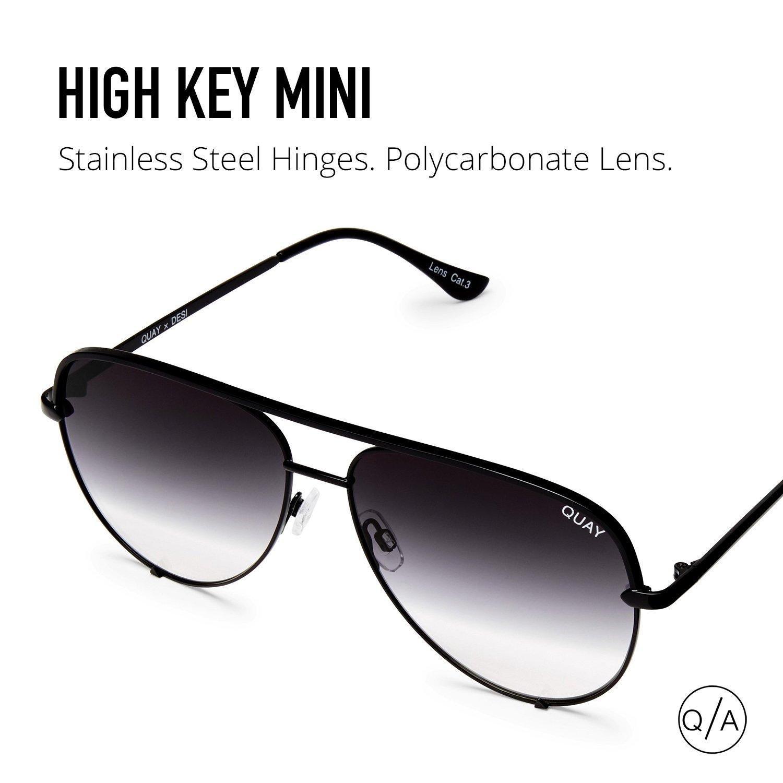 Quay Australia HIGH KEY MINI Men's and Women's Sunglasses Aviator Sunnies - Black/Fade by Quay Australia (Image #7)