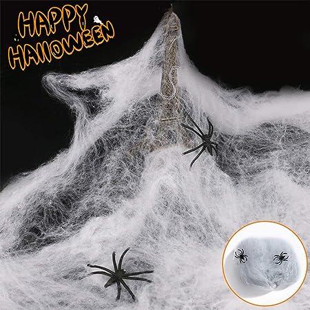 Odot Tela de Araña Decoración de Halloween Telaraña Algodón y ...