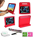 luka Multi Function Child/Shock Proof Kids Cover Case with Stand/Handle for Apple iPad Tablet (Ipad 2/3/4, Red)
