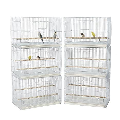 Rainforest Cockatiel - Juego de 6 jaulas para cría de canario ...