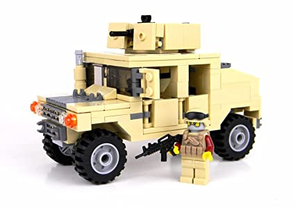 Amazon Army Armored Humvee Battle Brick Custom Set Toys Games