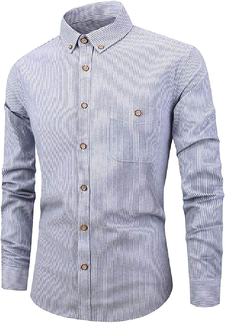 Coolred-Men Classic-Fit Relaxed Premium Long Sleeve Stripe Woven Shirt