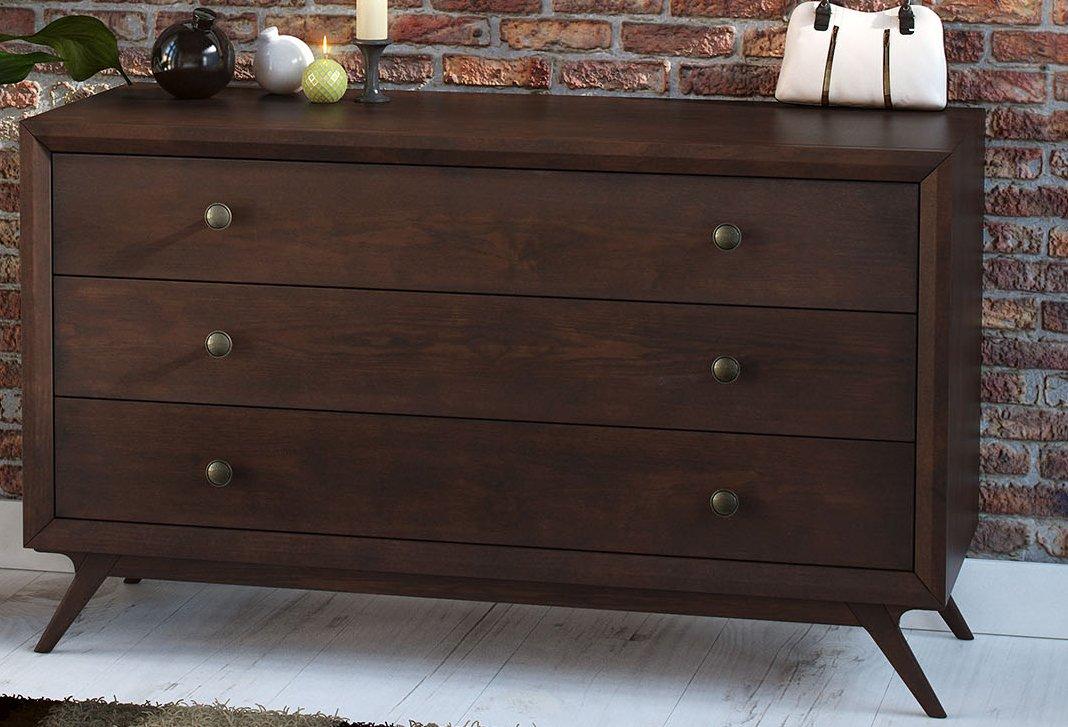 LexMod Tracy Wood Dresser - Cappuccino - 28.5 x 47.5 x 18