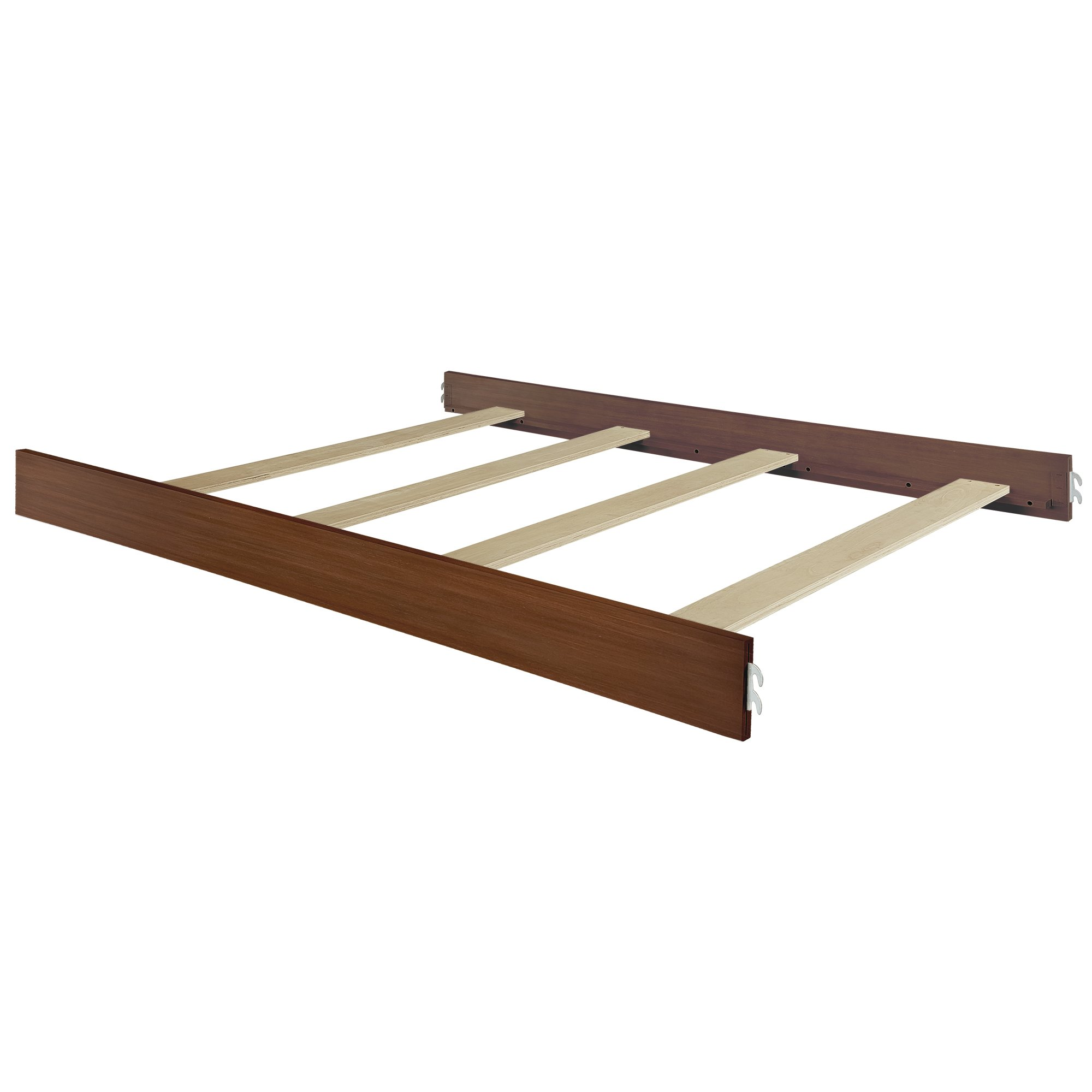 Evolur Universal Convertible Crib Wooden Full Size Bed Rail, Weather Natural