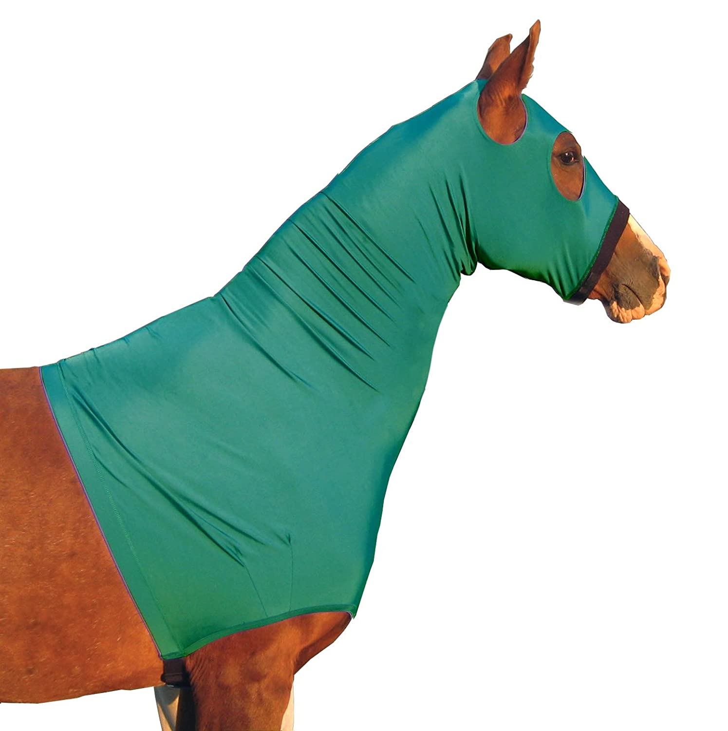 Derby Originals Lycra Stretch Horse Hoods with Zipper - Multiple Colors and Sizes 80-9170BK-L-P
