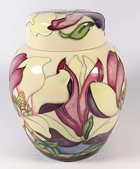 Moorcroft Hodnet Hall 7696 Magnolia Flower Ltd Ed 100 Ginger Jar