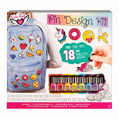 Fashion Angels Enamel Pin Kit (12135) Decorative Pin Set, Pin Flair, Pin Design, Ages 8 and up: Toys & Games
