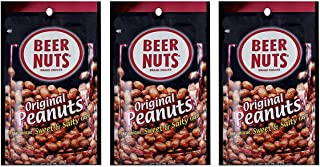 product image for BEER NUTS Original Peanuts - 4oz Single Serve Bags (Pack of 3), Sweet and Salty, Gluten-Free, Kosher, Low Sodium Peanut Snacks