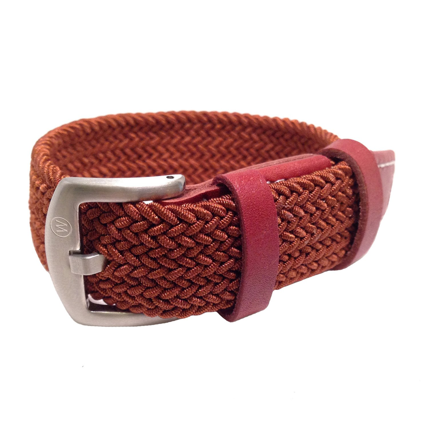 W&S Braided Woven Watch Strap Stretch Watch Band (20mm, Brown)