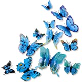 Amazon Price History for:DaGou mixed of 12PCS 3D Pink Butterfly Wall Stickers Decor Art Decorations¡