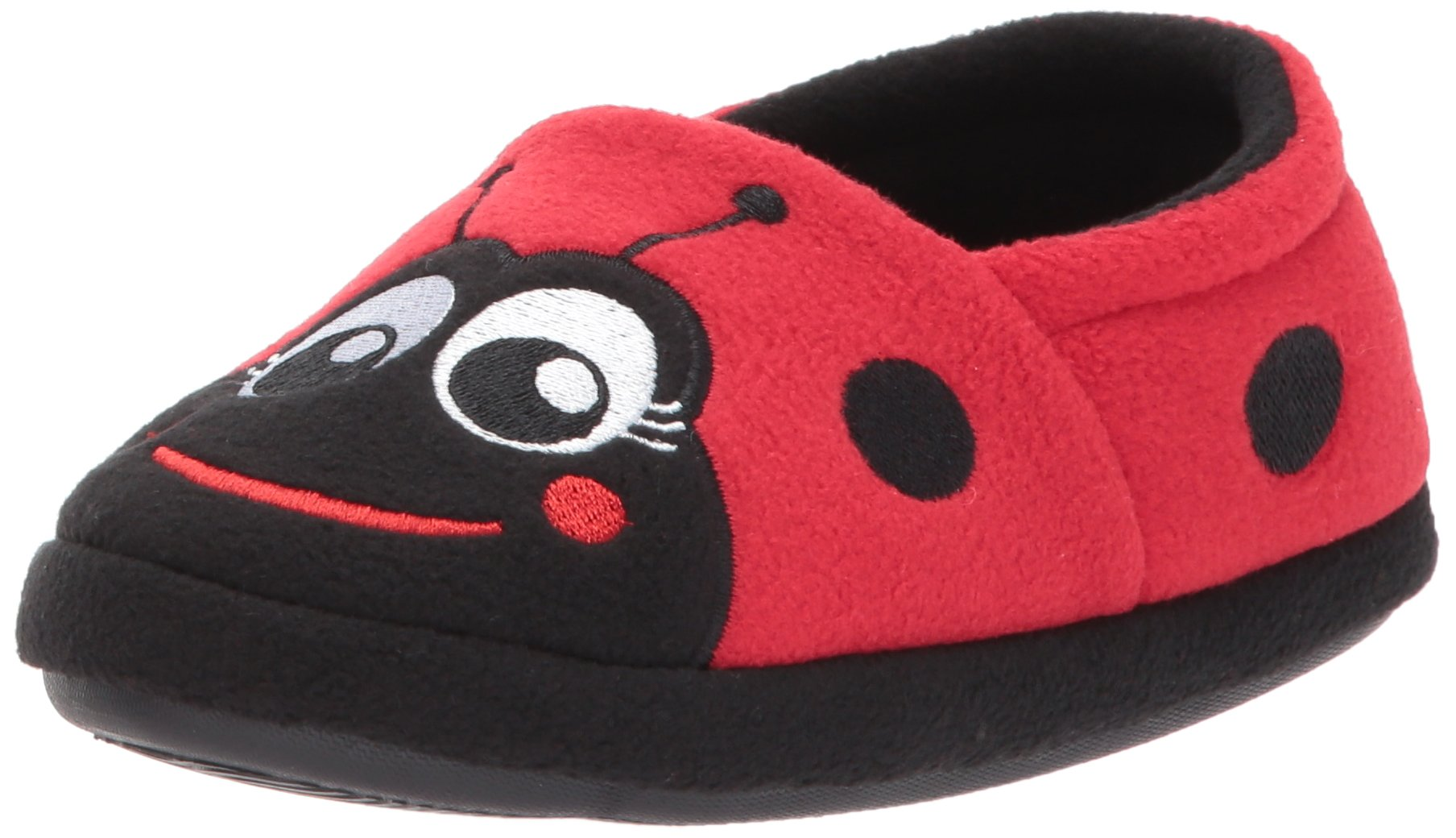 Western Chief Kids Warm and Cozy Slipper, Lucy The Ladybug, 7 M US Toddler